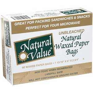 Unbleached Natural Waxed Paper Bags - Green Home Experts