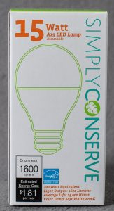 Simply Conserve Dimmable LED, 15W (100W equiv), 2700K