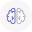 left brain right brain icon
