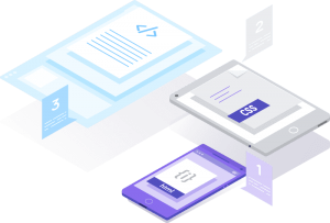 css and html isometric icons