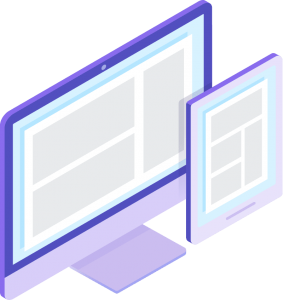 desktop and tablet isometric icons